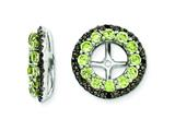 Sterling Silver Peridot and Black Sapphire Earring Jackets style: QJ125AUG