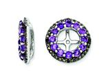 Sterling Silver Amethyst and Black Sapphire Earring Jackets style: QJ125FEB