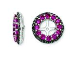 Sterling Silver Created Ruby and Black Sapphire Earring Jackets style: QJ125JUL
