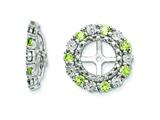 Sterling Silver Peridot Earring Jackets style: QJ129AUG