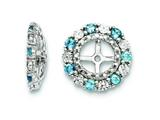 Sterling Silver Swiss Blue Topaz Earring Jackets style: QJ129DEC