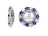Sterling Silver Amethyst Earring Jackets style: QJ129FEB