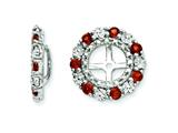 Sterling Silver Garnet Earring Jackets style: QJ129JAN