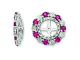 Sterling Silver Created Ruby Earring Jackets style: QJ129JUL