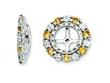Sterling Silver Citrine Earring Jackets style: QJ129NOV