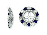 Sterling Silver Created Blue Sapphire Earring Jackets style: QJ129SEP