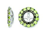 Sterling Silver Peridot and Black Sapphire Earring Jackets style: QJ130AUG