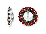 Sterling Silver Garnet and Black Sapphire Earring Jackets style: QJ130JAN