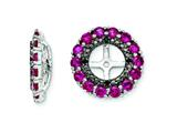 Sterling Silver Created Ruby and Black Sapphire Earring Jackets style: QJ130JUL