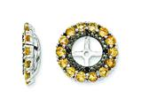Sterling Silver Citrine and Black Sapphire Earring Jackets style: QJ130NOV