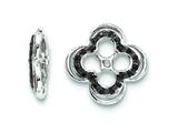 Sterling Silver Black Sapphire Earring Jackets style: QJ135