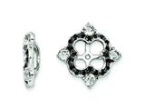 Sterling Silver White Topaz and Black Sapphire Earring Jackets style: QJ137APR