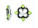 Sterling Silver Peridot and Black Sapphire Earring Jackets style: QJ137AUG