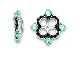 Sterling Silver Swiss Blue Topaz and Black Sapphire Earring Jackets style: QJ137DEC