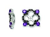 Sterling Silver Amethyst and Black Sapphire Earring Jackets style: QJ137FEB