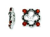 Sterling Silver Garnet and Black Sapphire Earring Jackets style: QJ137JAN