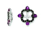 Sterling Silver Rhodolite Garnet and Black Sapphire Earring Jackets style: QJ137JUN