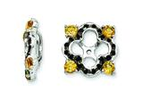 Sterling Silver Citrine and Black Sapphire Earring Jackets style: QJ137NOV