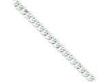 Sterling Silver 5.75mm Close Link Flat Curb Chain style: QLB150