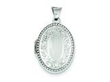 Sterling Silver Oval Locket style: QLS16