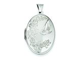Sterling Silver Love Birds Locket style: QLS18