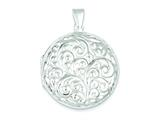 Sterling Silver Reversible Locket style: QLS227