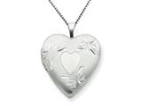 925 Sterling Silver 20mm with Heart Butterflies Heart Locket - Chain Included