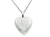 925 Sterling Silver 16mm LOVE Heart Locket - Chain Included