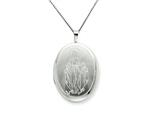 925 Sterling Silver 20mm Blessed Mother Mary Oval Locket - Chain Included style: QLS264