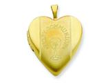 1/20 Gold Filled 20mm First Communion Heart Locket - Chain Included style: QLS273