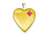 1/20 Gold Filled 20mm Enameled I Love You Heart Locket Necklace - Chain Included style: QLS276