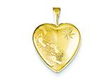 1/20 Gold Filled 16mm Footprints Heart Locket - Chain Included