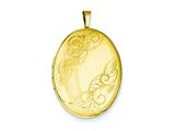 1/20 Gold Filled 20mm Swirled Oval Locket - Chain Included
