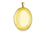 1/20 Gold Filled 20mm Greek Key Border Oval Locket - Chain Included