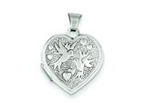 Sterling Silver Love Birds Heart Locket style: QLS29