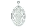 Sterling Silver Quilted Oval Locket style: QLS2