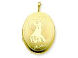 1/20 Gold Filled 20mm My Love with Couple Oval Locket - Chain Included style: QLS300
