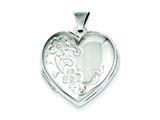 Sterling Silver Floral Heart Locket style: QLS40