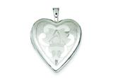 Sterling Silver 20mm Heart Locket style: QLS436