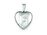 Sterling Silver Butterflies 12mm Heart Locket style: QLS479