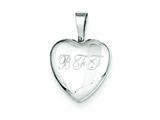 Sterling Silver Bff 12mm Heart Locket Pendant style: QLS487