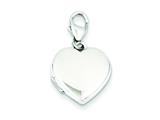 Sterling Silver 15mm Heart Locket style: QLS498
