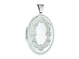 Sterling Silver High Polished Front Oval Locket style: QLS4