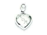 Sterling Silver 15mm Mom Heart Locket style: QLS502