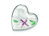 Sterling Silver Enamel Flower 4 Picture Family Heart Locket style: QLS509