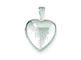 "Sterling Silver It""s A Girl 12mm Heart Locket style: QLS525"