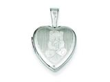 Sterling Silver Teddy Bear 12mm Heart Locket style: QLS526