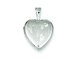Sterling Silver Hand Prints 12mm Heart Locket style: QLS527