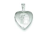 Sterling Silver My Little Sunshine Bears12mm Heart Locket style: QLS529
