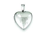 "Sterling Silver It""s A Boy 12mm Heart Locket style: QLS530"